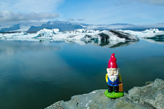 Gnome at Jokulsarlon