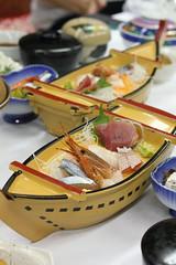 Sashimi on a ship (Choshi, Chiba, Japan)