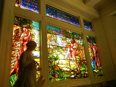 Tiffany panels, Yaddo