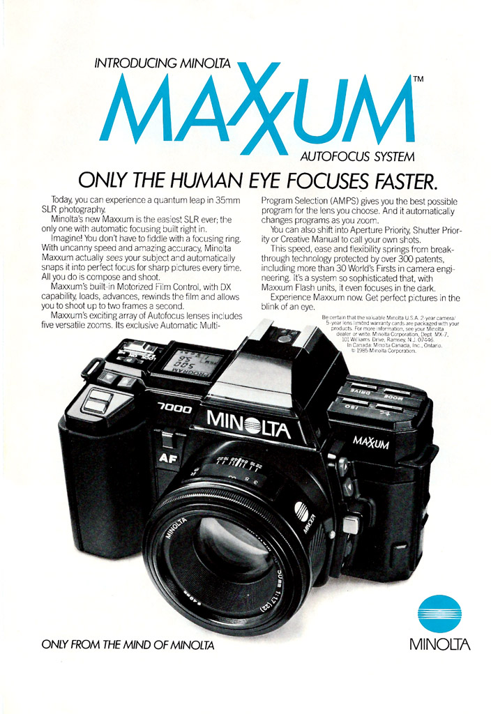 Minolta Maxxum 7000 ad - 1985