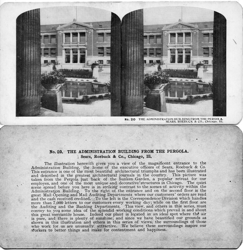 Administration Building from the Pergola - Sears Roebuck Chicago ILL 1906