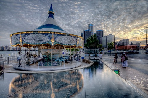 Detroit Riverwalk Carousel  Number 3 Of A Series.