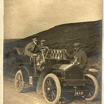 Unknown early car on hilly road, possibly a Humber and the 1905 Isle of Man TT?