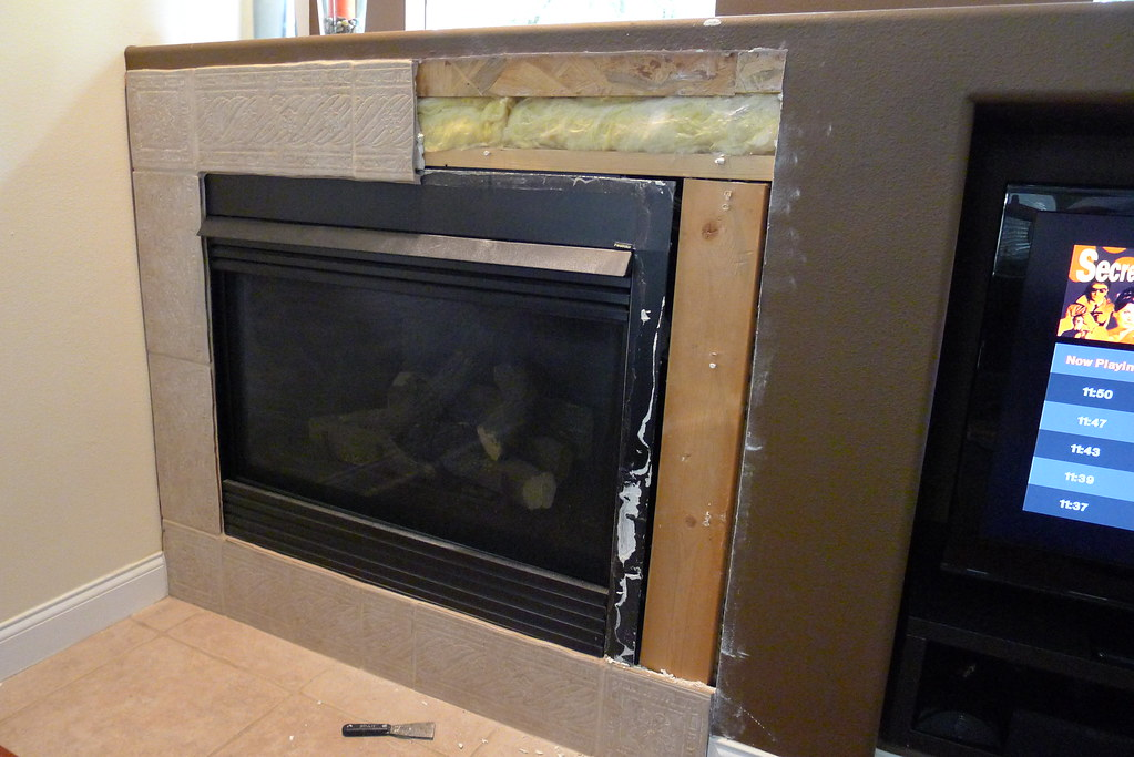 Installing New Tile Around Gas Fireplace Have Question