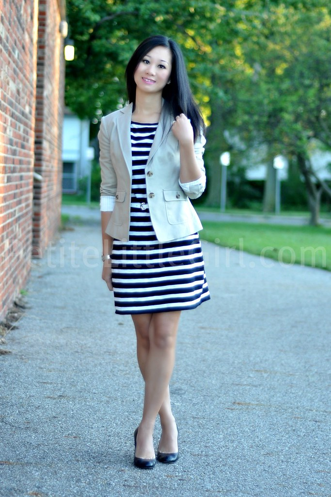Black And White Striped Dress What Color Shoes Style
