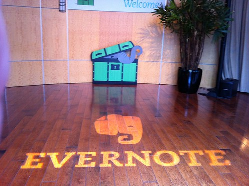 Evernote logo on the floor