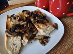 Mushrooms on Toast- My Very Favourite Snack!