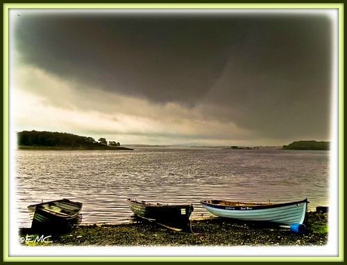 ireland sky seascape water rain clouds landscape boats nikon scenery shoreline lakes scenic places coastal mayo connacht pontoon irlande bythesea coastalview loughcullin loughconn d3100 nikond3100