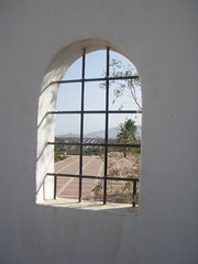 thru the arched window