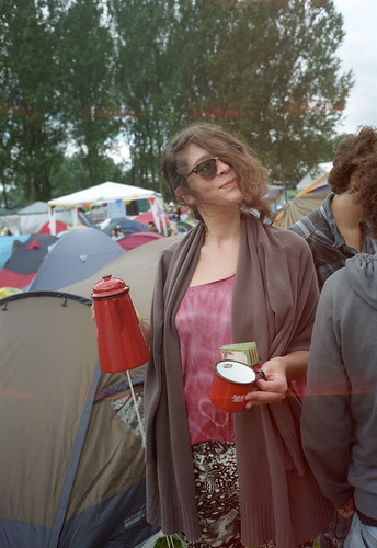 Lowlands 2011 - Anne with light leaks and the morning coffee - roll 2