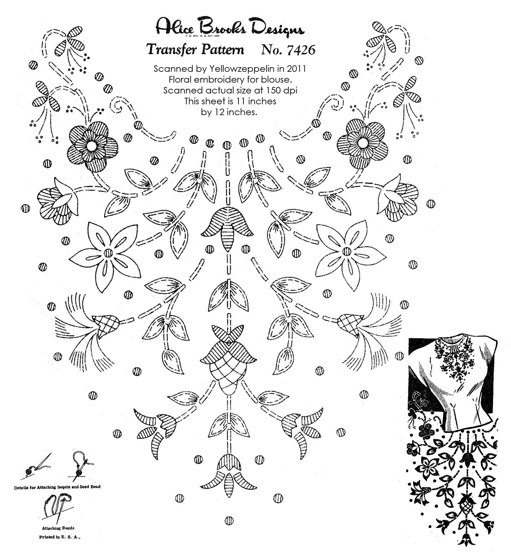AB-7426 floral neckline