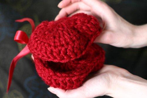 шкатулка-сердечко красная