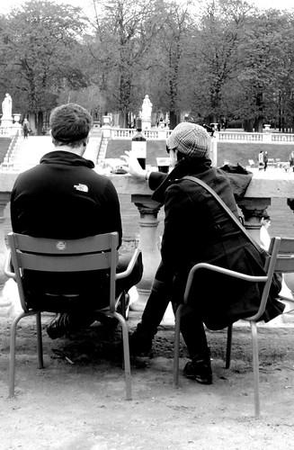 Couple Enjoying a Picnic, Luxembourg Gardens