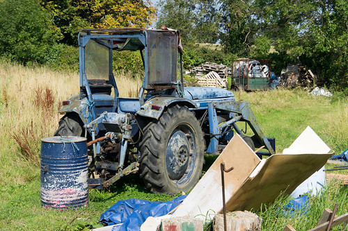 An Old Tractor - Lehaunstown Road by infomatique