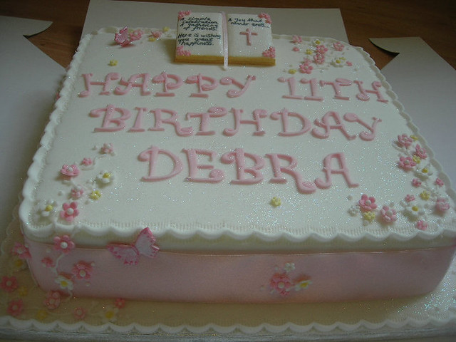 Bible Birthday Cakes http://www.flickr.com/photos/lizzies_cakes/6112770598/