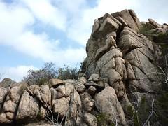 Après la plate-forme rocheuse : exploration d'un bloc rocheux avec murets