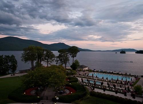 trees sunset lake mountains pool clouds landscape lowlight lakegeorge sunsetlight lakescape boltonlanding sagamorehotel sigma1770os