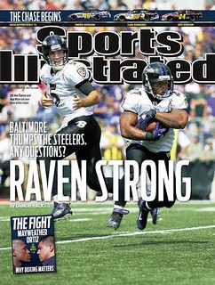 "#Ravens make the regional SI cover. **HEADLINE** ""#Baltimore Thumps the #Steelers. Any Questions?"" #MD #PA #DE #VA #WVA"