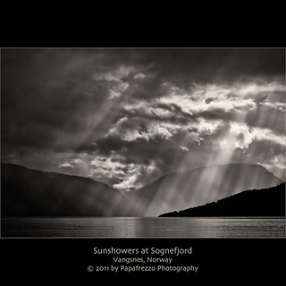 Sunshower at Sognefjord