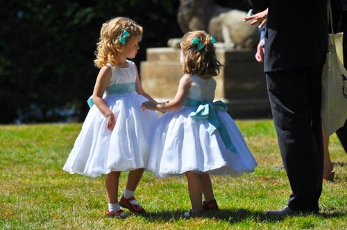 Eleanor and Sophia at wedding