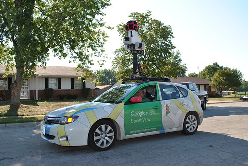 Google Maps Street View car in front of my house.