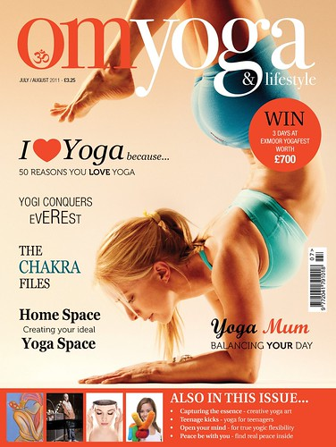 Om Yoga Cover Model July/August 2011