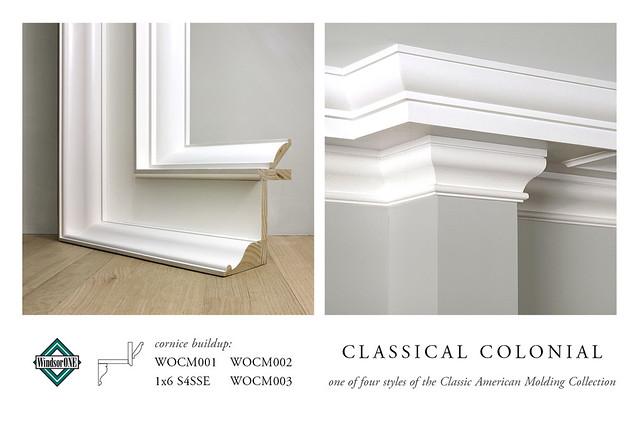 Classical Colonial Crown Molding Buildup Cornice Buildup