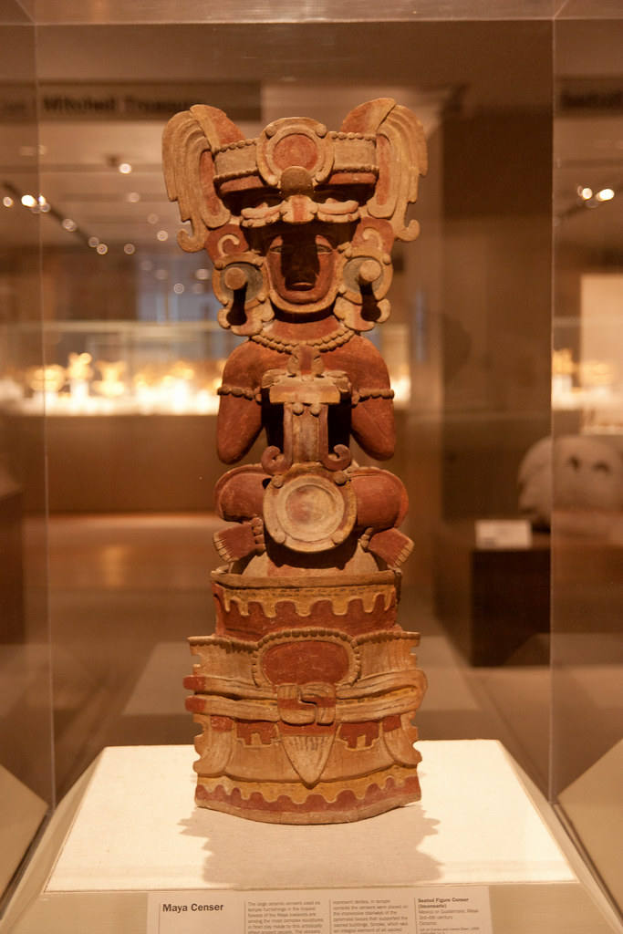 Seated Figure Censer (Incensario) Mexico or Guatermala: Maya 3rd-6th Century Ceramic  The Metropolitan Museum allows photo shooting providing there is no financial gain.  Please respect their policy