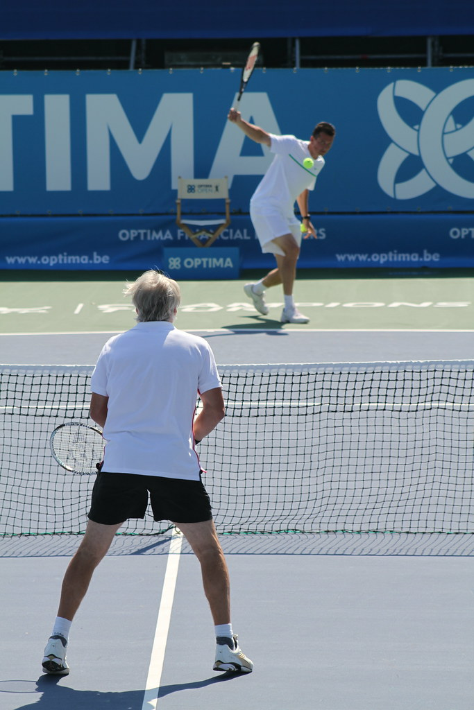 Bjorn Borg and Richard Krajicek
