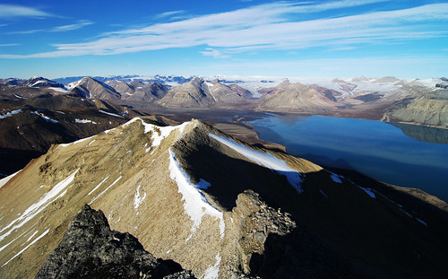 On the top of Pyramiden mountain