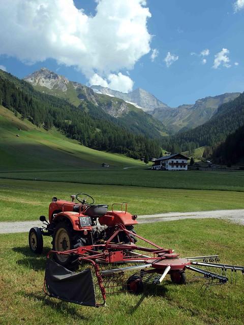Haymaking in the Austrian Tyrol