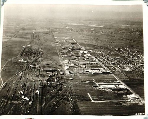 An ariel view of the Belt Railway of Chicago Clearing Yard  looking west from West 69th Street and South Central Avenue.  Bedford Park llinois USA. Circa 1920's. by Eddie from Chicago