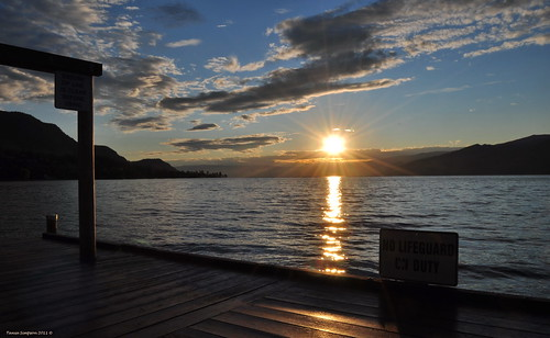 morning sky sun sunlight lake canada reflection water clouds sunrise photography photo dock nikon photographer bc image britishcolumbia okanagan photograph zipline beams okanaganlake okanaganvalley peachland ropepull centralokanagan nikond90 copyrightimage swimbay taniasimpson