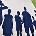 Family silhouette shadows 1