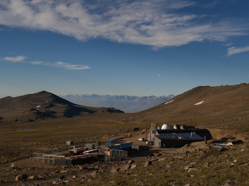 White Mountain Research Station, Barcroft Facility, with the eastern Sierra in the background