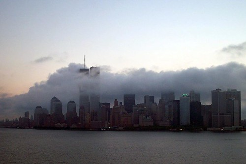 The Twin Towers on September 10, 2001