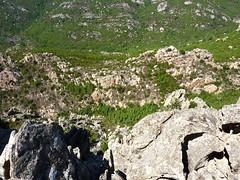 Castellu Muratu : le versant de montée et la face W de la pointe