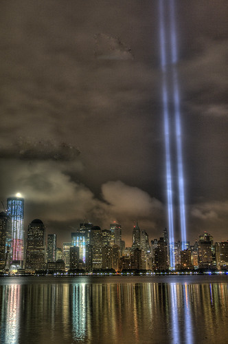 9-11-11 WTC Tribute In Light from Jersey City, NJ