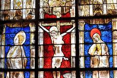 Détail d'un vitrail du Château de Castelnau-Bretenoux - Lot
