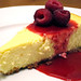 New York Cheesecake with Raspberry Sauce