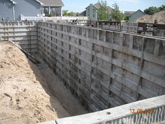 reinforced concrete, wall, foundation, construction,