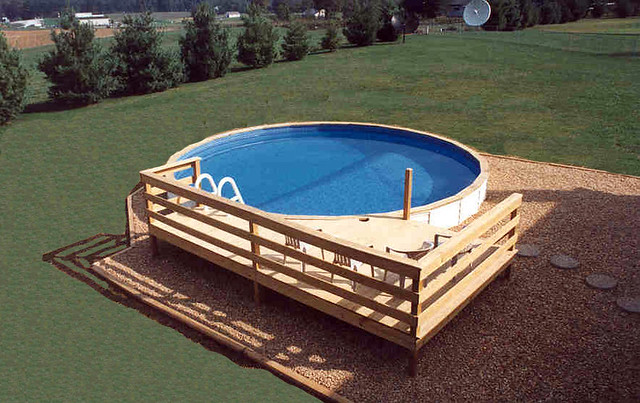 Medallion Pools St Croix Above Ground With Vinyl Siding