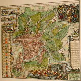 Rome - Map c. 1750