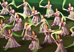 north korea dancers in motion