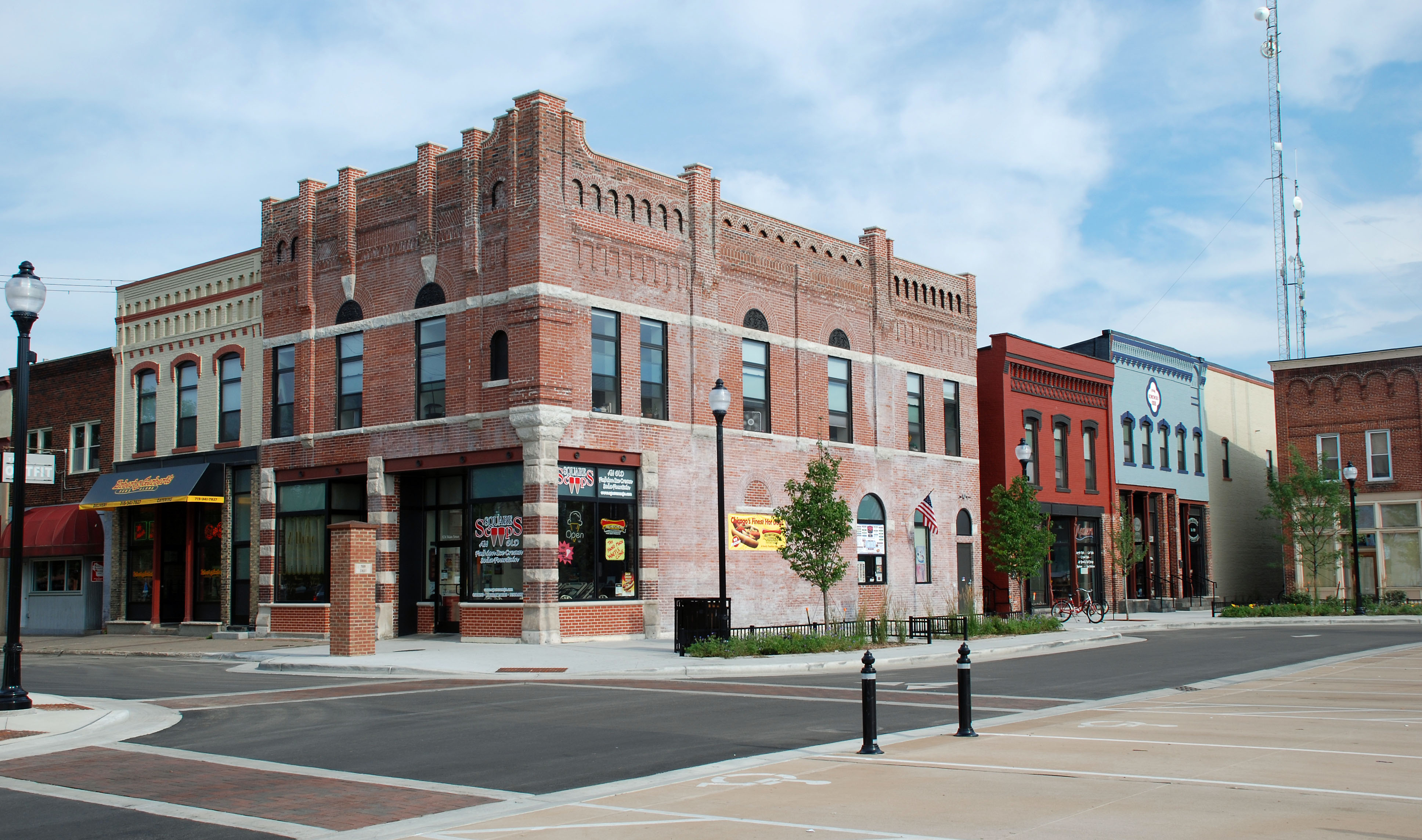 downtown historic district, Stevens Point, Wisconsin ...