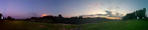 sunset summer river fort kupa iphone sisak 2011