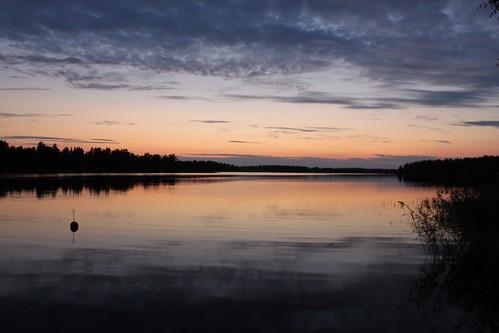 lake finland dusk pietarsaari jakobstad pirilo
