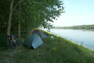 Wild camping in Romania on the Danube