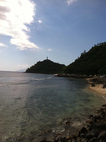 ocean mountains coast dili jesusstatue dilitimorleste timorlestetl environmentenv designphotographytraining2011