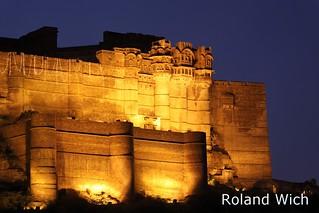 Jodhpur - Merangarh Fort at dusk